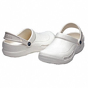 Men's Slip-On Shoes with Strap, White, Size 6