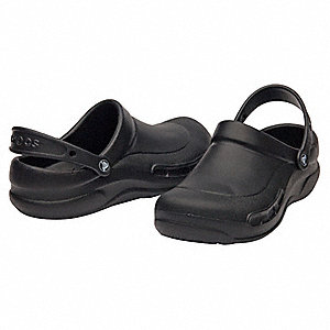 Men's Slip-On Shoes with Strap, Black, Size 9
