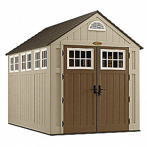 Outdoor Storage Shed,8x7x10,Sand