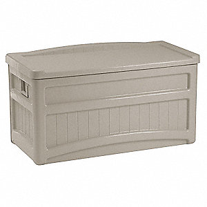 Deck Box, With Wheels, 73 Gal, Taupe