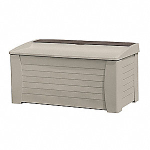 Deck Box, With Seat, 127 Gal, Taupe