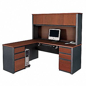 L-Shape Workstation,71x66-3/4x62-3/4 In