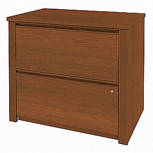 "19-5/8"" x 30-3/4"" x 30-3/8"" 2-Drawer Prestige + Series File Cabinet, Cognac Cherry"
