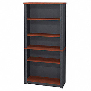 Modular Bookcase,Bordeaux/Graphite