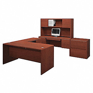 Executive Desk Complete Kit,65-1/4x94 In