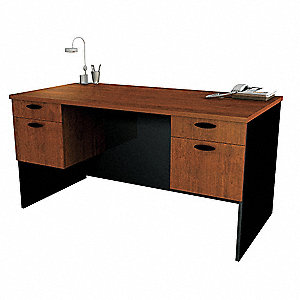 Executive Desk,59-1/2x30-3/8x29-5/8 In