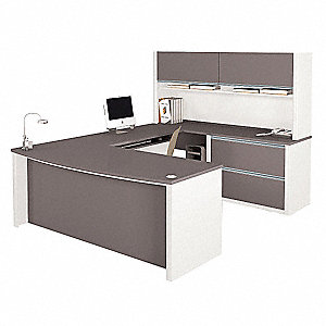 "Connexion U-Shape Workstation, Overall Height 65-3/4"", Overall Width 92-3/8"", Overall Depth 71"""