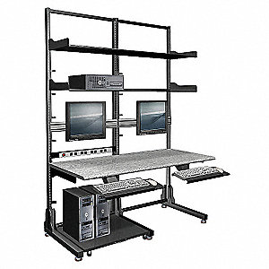 Double Frame Computer Workstation
