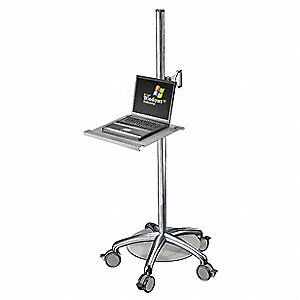 Laptop Laptop Cart,Steel,60 In. H