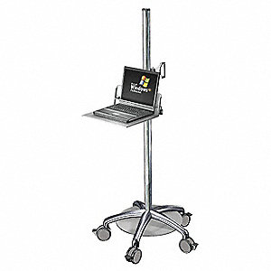 Laptop Cart w/Locking Shelf,Steel