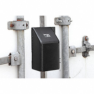 "Hardened Steel Standard Lock Padlock Guard, 6""H x 3-1/2""W x 4""L, Black"