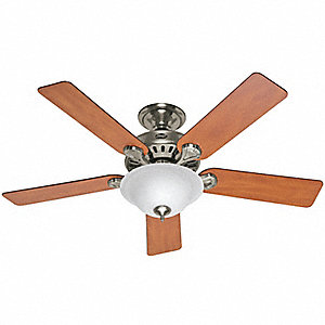 "Decorative Ceiling Fan, Chestnut/Blackened Rosewood, 52"" Blade Dia."
