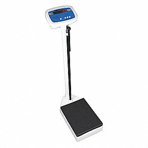"Digital Physician Scale, 250kg/550 lb. Capacity, 10-3/4"" W x 14-1/2"" D"