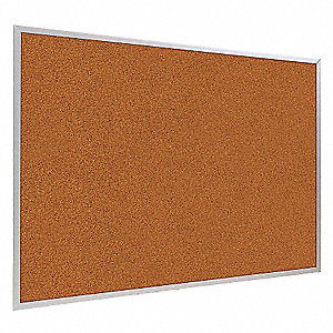 "Red Splash Cork Bulletin Board, Aluminum Frame Material, 24"" Width, 36"" Height"
