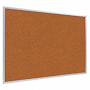 "Push-Pin Bulletin Board, Splash Cork, 48""H x 144""W, Red"