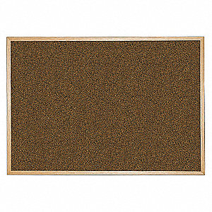 "Push-Pin Bulletin Board, Splash Cork, 48""H x 96""W, Blue"