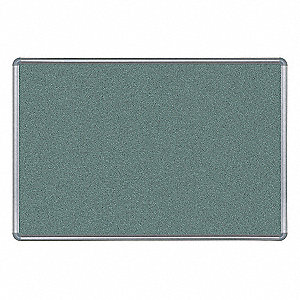 "Hedgerow Vinyl Antimicrobial Bulletin Board, Aluminum Frame Material, 24"" Width, 18"" Height"