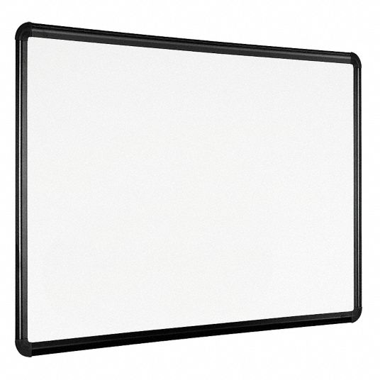 Gloss-Finish Porcelain Dry Erase Board, Wall Mounted, 36 inH x 48 inW, White