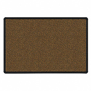 "Push-Pin Bulletin Board, Splash Cork, 33-3/4""H x 48""W, Black"