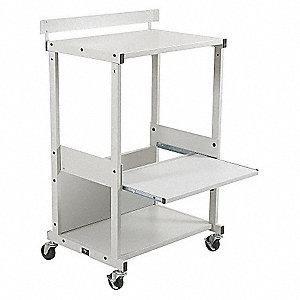 dual purpose printer stand gray