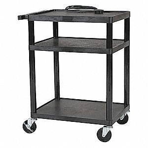 All Service Cart,3 Shelf,Black