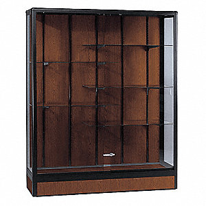 Display Case,Walnut,60 In