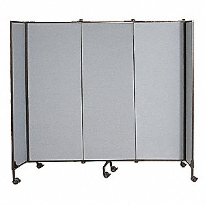 "97"" x 6 ft., 3-Panel Great Divide Wall System Starter Set, Gray"