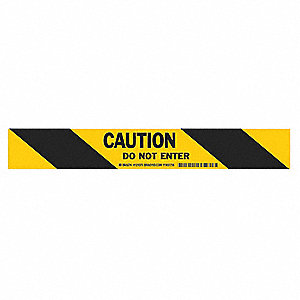 "Removable Marking Tape, Message, Continuous Roll, 2"" Width, 1 EA"