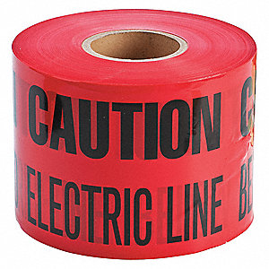 Brady Underground Warning Tape Red Black 6 Quot X 1000 Ft
