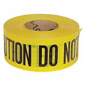 Barricade Tape,Yellow/Black,500ft x 3 In