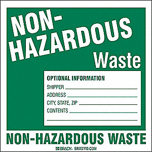 Hazardous Waste Label,Vinyl,PK100