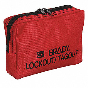 Lockout Pouch, Unfilled, Pouch, Red