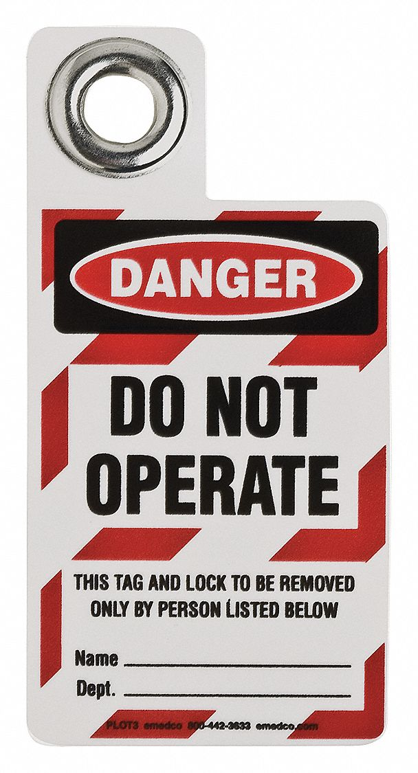 Danger Tag, Vinyl, Do Not Operate This Tag And Lock To Be Removed Only By Person Listed Below