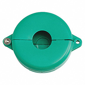 Gate Valve Lockout, Polypropylene, Green