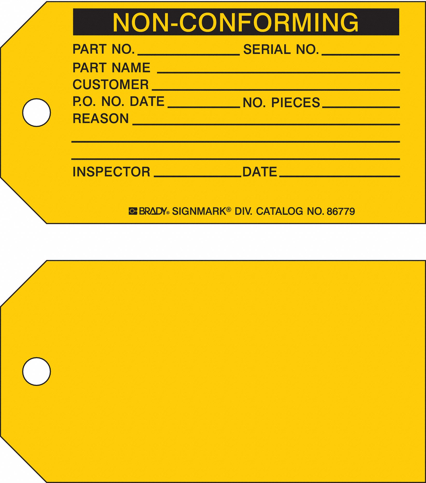 Repair And Inspection Tags