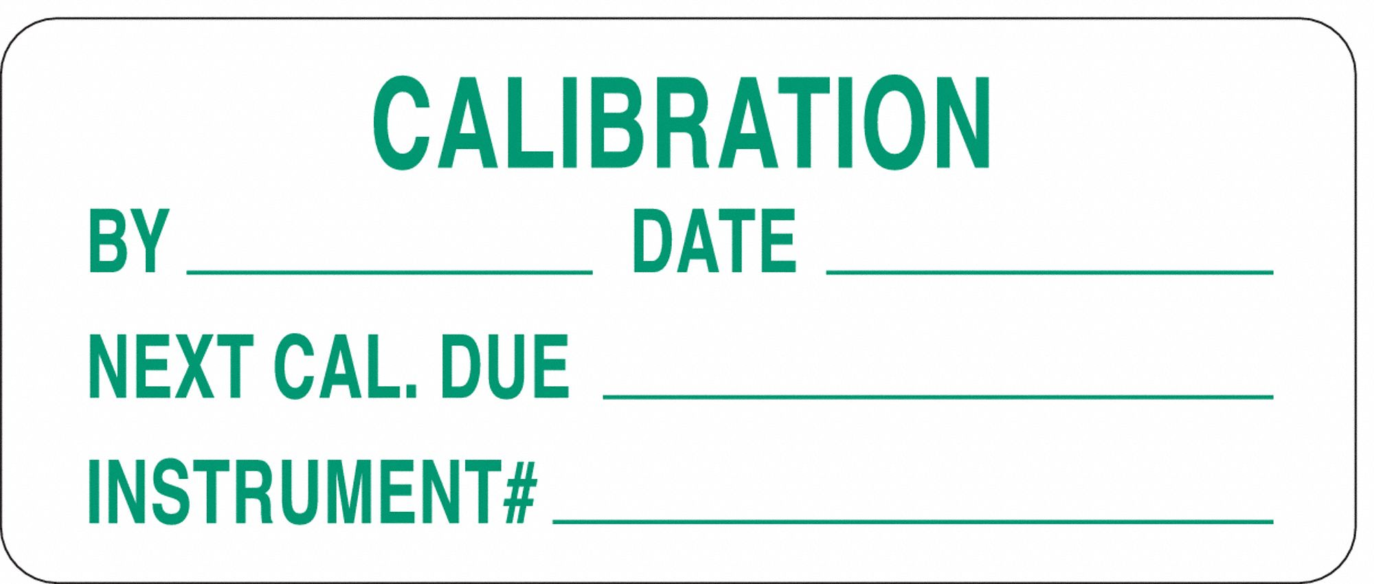 Calibration And Inspection Labels
