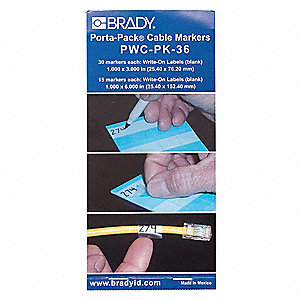 White Wire Marker Book, Self-Laminating Vinyl B-292, No. of Labels: 45