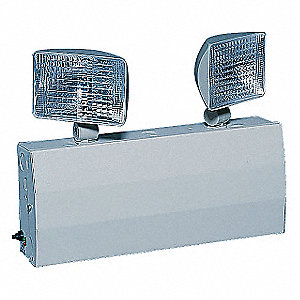 "3"" x 13-1/10"" x 12"" Halogen Emergency Light, Wall Mounting"