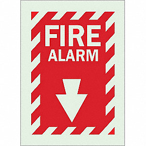 "Fire Equipment, No Header, Polyester, 14"" x 10"", Adhesive Surface, Not Retroreflective"