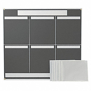 LEAN METRIC BOARD 37.25INX34.25IN GREY
