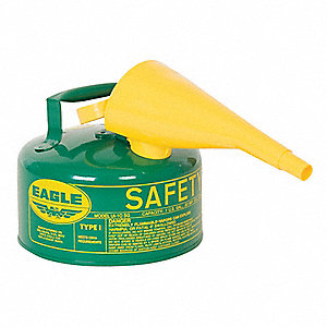 "Type I Safety Can,1 gal.,Green,8"" H"