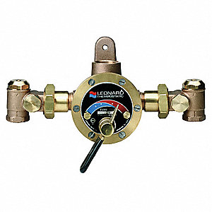 "3/4"" FNPT Inlet Type Steam and Water Mixing Valve, Chrome-Plated Bronze, 27 gpm"