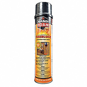 Fire Barrier Insulating Spray Foam Sealant, 24 oz. Aerosol Can, Orange
