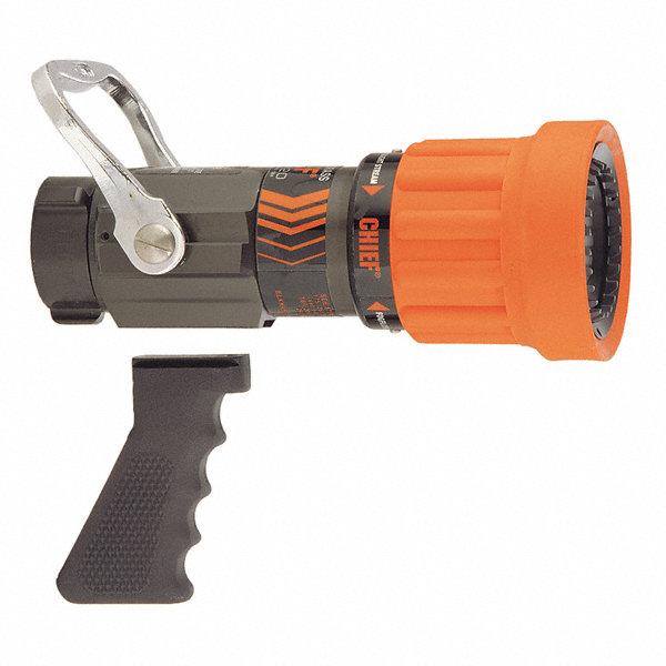 Elkhart brass fire hose nozzle in orange z