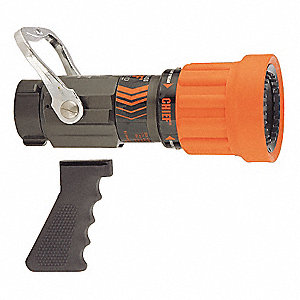Fire Hose Nozzle,1-1/2 In.,Orange