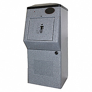 Compacting Waste Receptacle,2.4 cu. ft.