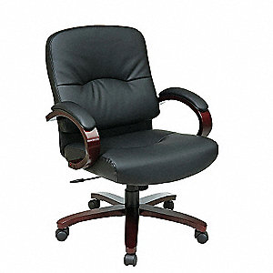Exec Midback Chair,Eco Leather,Black