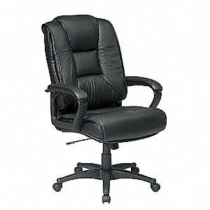 Highback Chair,Glove Soft Leather,Black