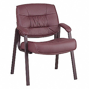 Work Smart Side Chair,Burgundy