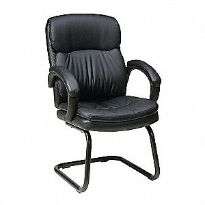 Work Smart Side Chair,Eco Leather,Black